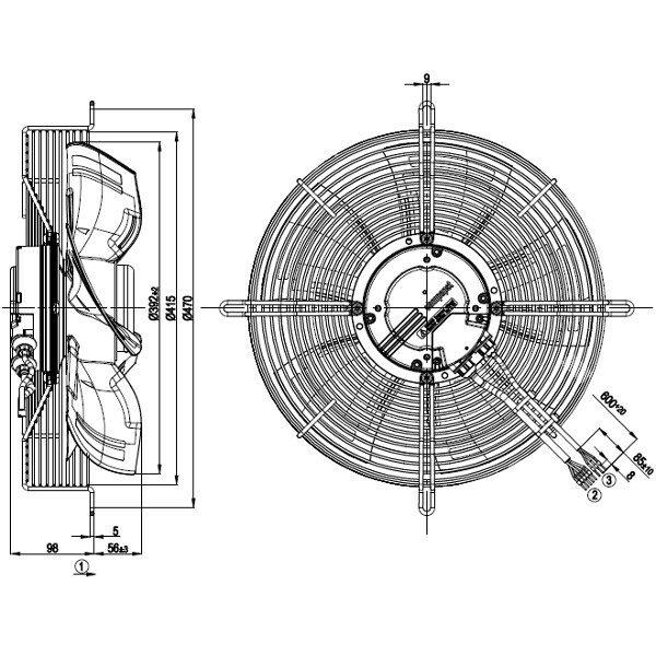 0110692-Lüftereinheit-EBM-Papst-S3G400-LC22-52-1