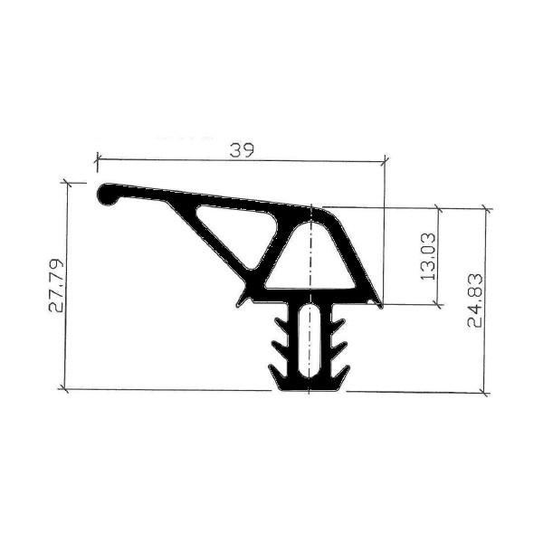 1001991-Dichtungsprofil-Gummidichtung-FD900TD