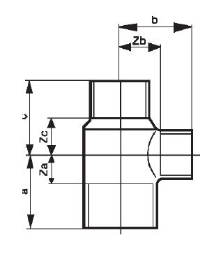 Abmessungen-T-Stück 5130