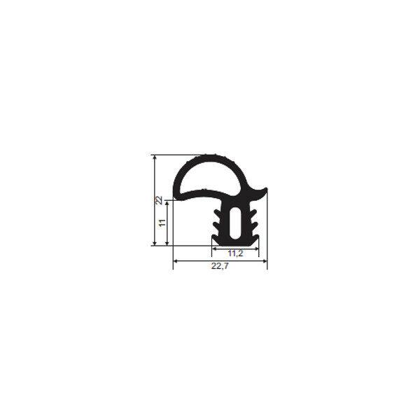 1001109-Dichtungsprofil-Gummidichtung-FD5246