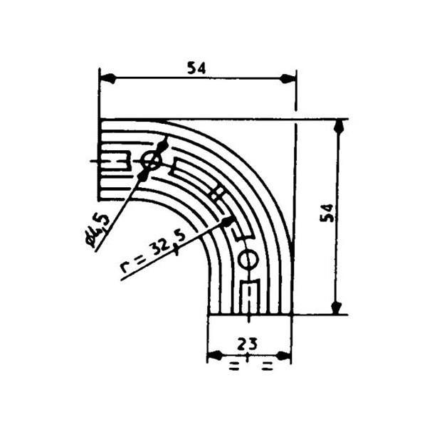 1001924-Eckverbindung-2313-Dichtungsprofil-2311-8511-Fermod