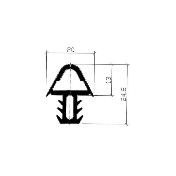 1001990-Dichtungsprofil-Gummidichtung-FD500TD