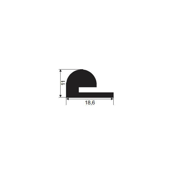 1021814-Dichtungsprofil-Moosgummidichtung-FD1116