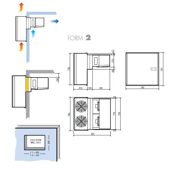 Kühlaggregat-Wandstopfer-F2-M