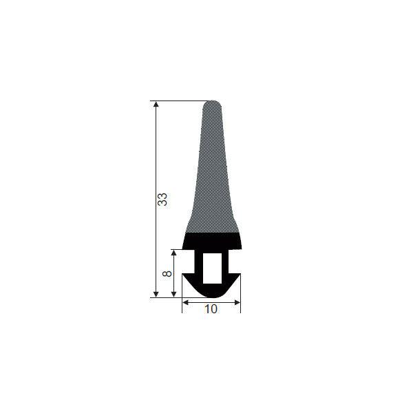 1001889-Dichtungsprofil-Moosgummidichtung-FD464